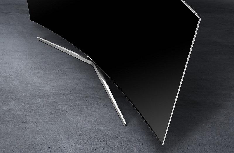 Smart Tivi Samsung 55MU9000 có chân đế chắc chắn và có thể tháo rời