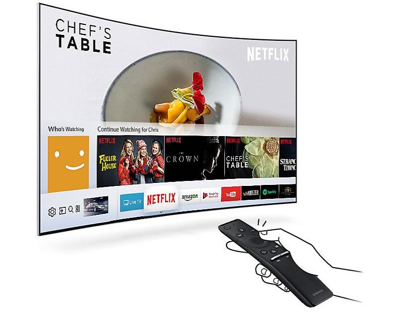 Smart tivi 55MU9000 sử dụng hệ điều hành tizen với kho ứng dụng phong phú