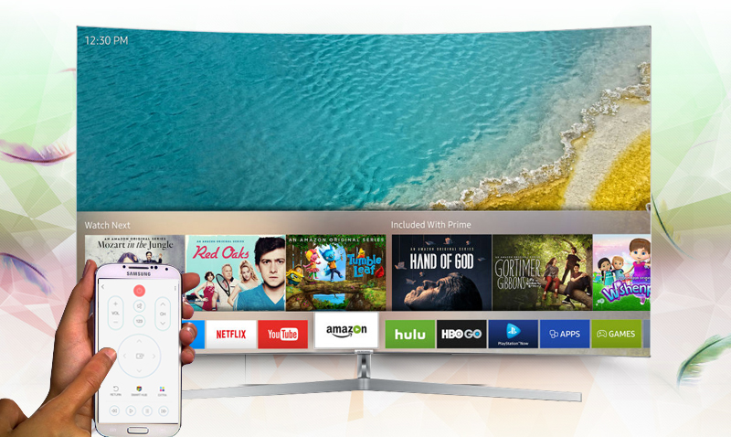 Smart Tivi Cong Samsung 55 inch UA55MU9000 có nhiều tính năng hỗ trợ người dùng