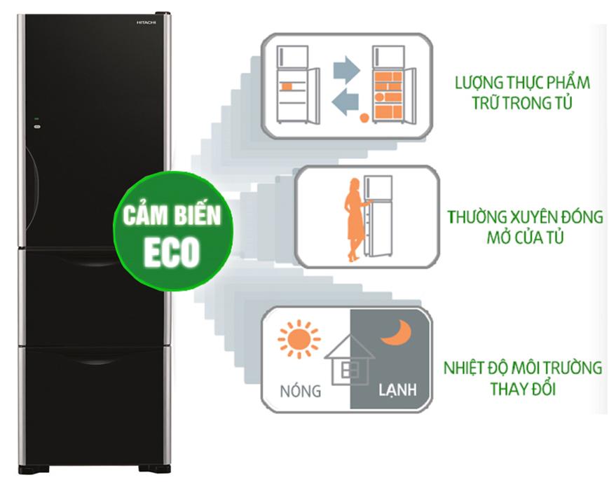 Cảm biến nhiệt Eco thông minh với tủ lạnh Inverter R-SG38FPGV