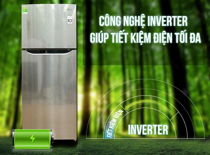 Hệ thống nén Inverter hiện đại với Tủ lạnh LG 189 lít GN-L205PS