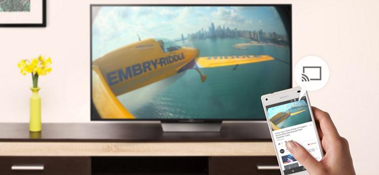 Chia sẻ hình ảnh và video từ điện thoại lên tivi Sony 65X9300