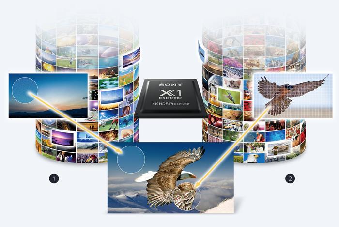 Công nghệ Dual database processing trên Tivi Sony 65X9300E