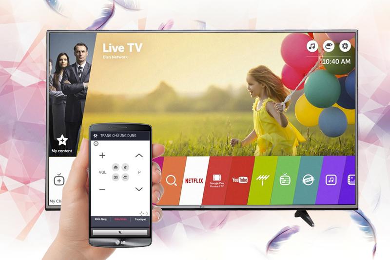 Điều khiển trạng thái tivi dễ dàng hơn với smart phone trên 43UJ632