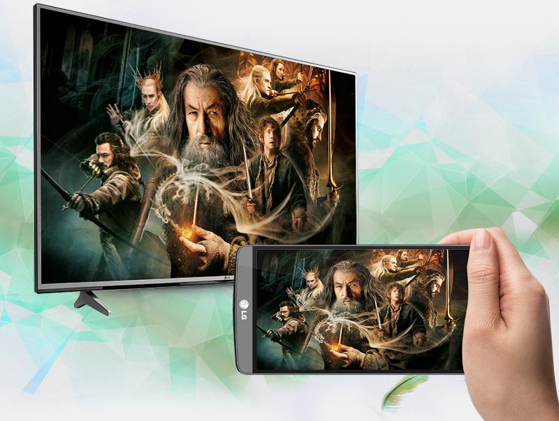 Khả năng trình chiếu màn hình điện thoại lên tivi LG 43 inch