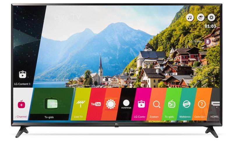 Smart tivi 43 inch 43UJ632 tích hợp với hệ điều hành Web OS