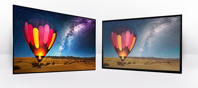Độ tương phản cao mang lại nhiều cảm nhận thú vị cùng với smart tivi 65inch 65UJ750