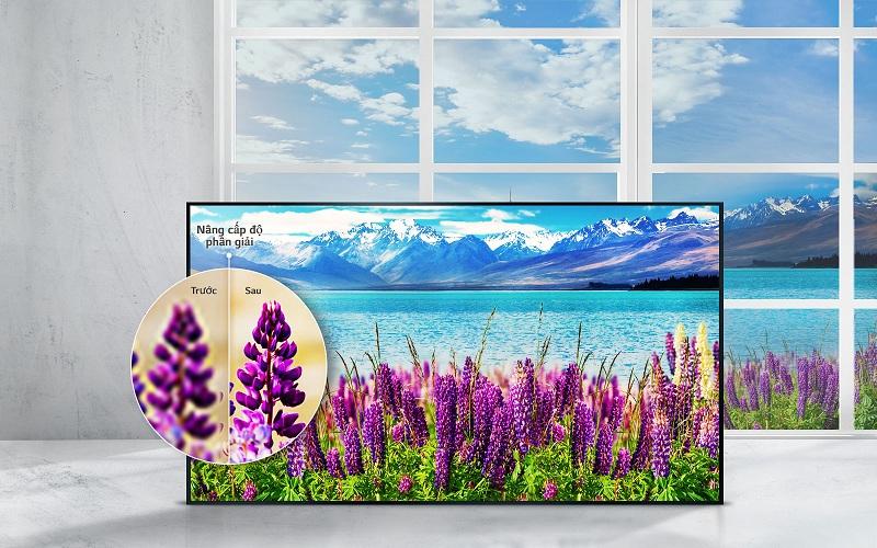 Smart Tivi LG 49UJ632T sở hữu công nghệ nâng cấp độ phân giải từ HD, full HD lên gần chuẩn 4K