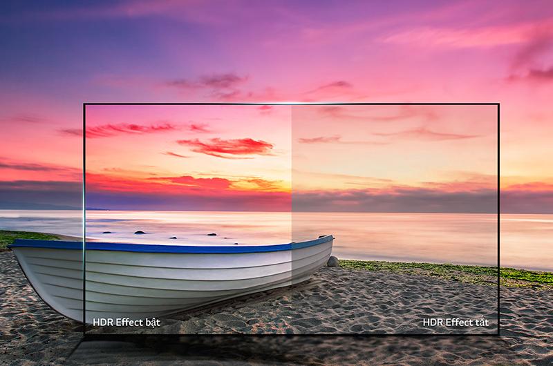 Smart tivi LG 55 inch có khả năng điều chỉnh độ tương phản hình ảnh hiển thị đầy hấp dẫn