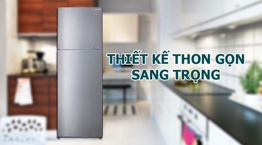 Thiết kế lý tưởng cho không gian hạn chế với tủ lạnh Sharp 224 lít X251E-SL