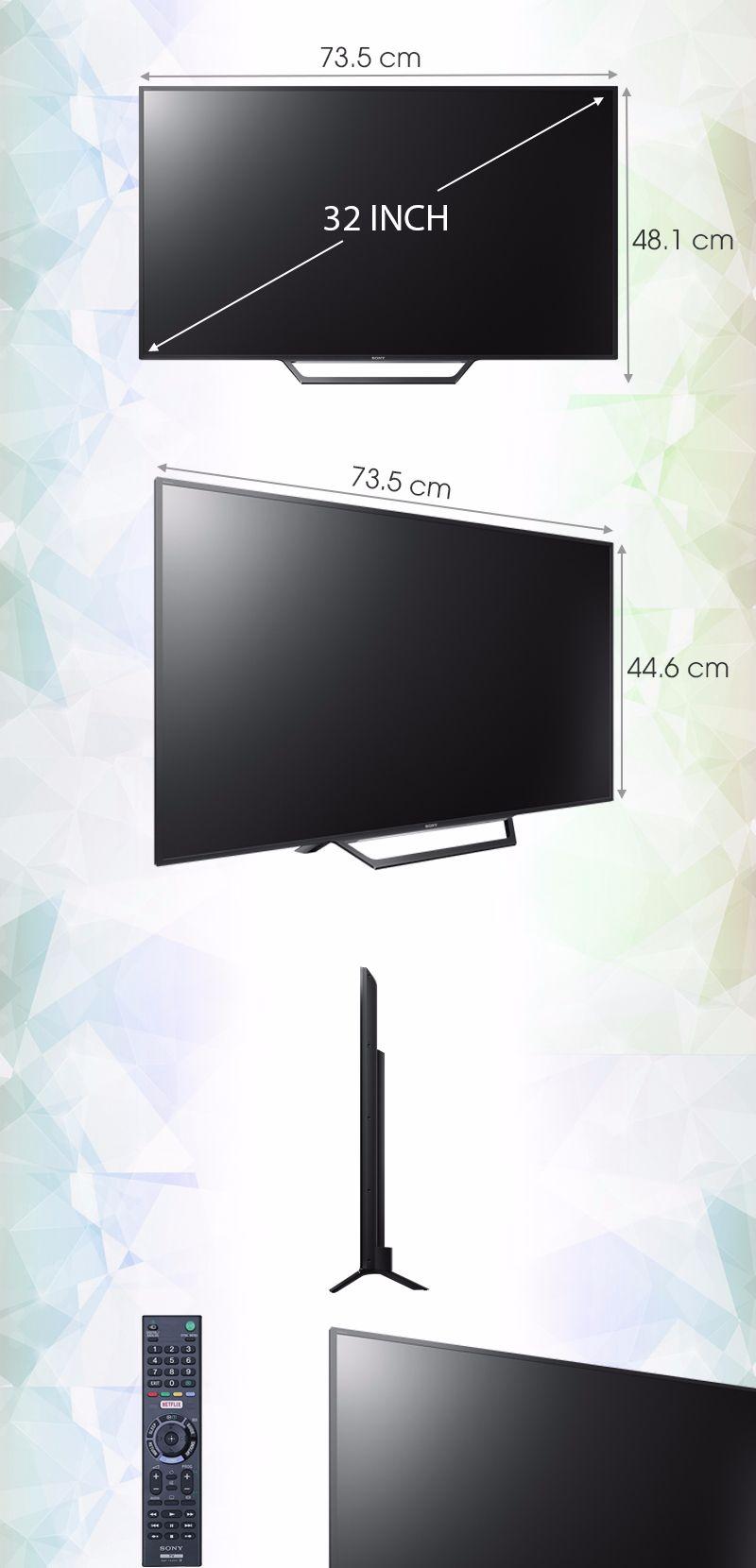 Tạo ấn tượng về kiểu dáng siêu mỏng với tivi 32 inch Sony (nguồn ảnh: internet)