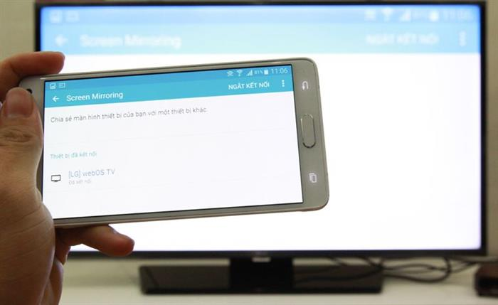 Ứng dụng Screen Mirroring ket noi dien thoai voi tivi Sony