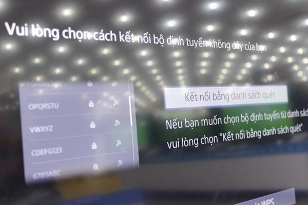 Chọn mạng Wi- Fi kết nối