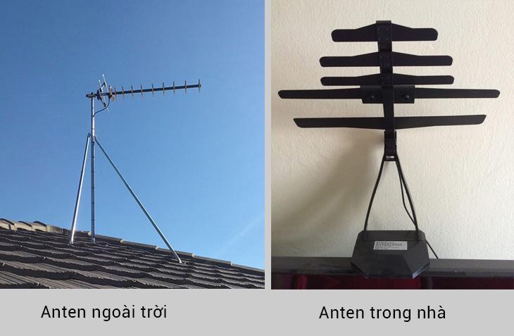 Nên sử dụng anten trong nhà hay anten ngoài trời