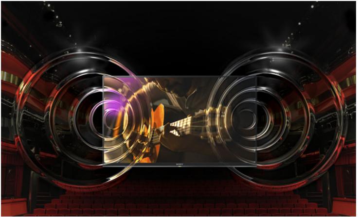 Tivi Sony 55X8000 sở hữu âm thanh mạnh mẽ, bùng nổ