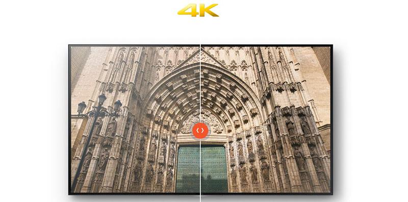 Tivi Sony KD 65X7000E có chất lượng hình ảnh hiển thị 4K