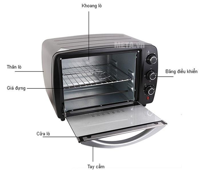 Thiết kế hiện đại của lò nướng Electrolux model EOT3805K 15 lít