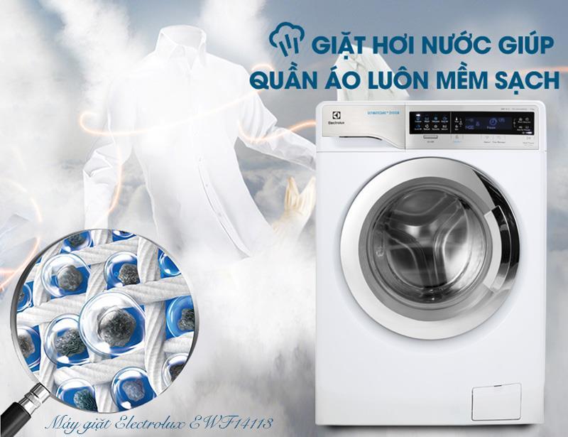 Sở hữu công nghệ giặt hơi nước tiên tiến của máy giặt inverter 11 kg EWW14113