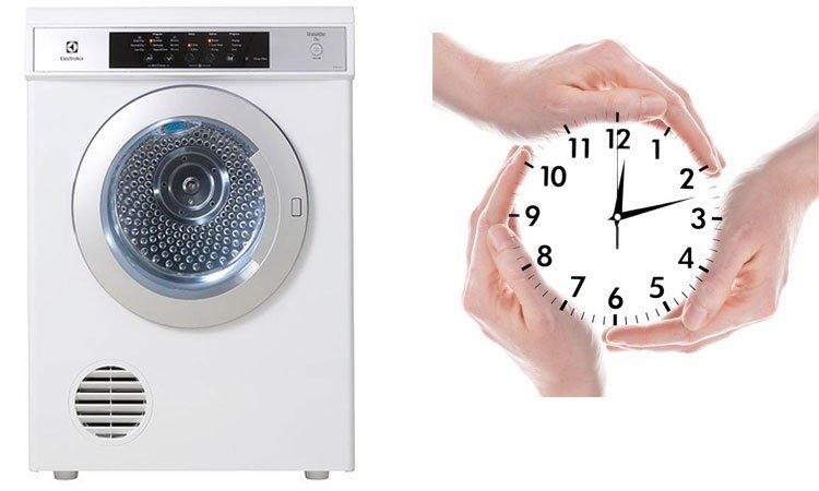 Khả năng sấy nhanh, tiết kiệm thời gian với Electrolux 7.5 kg EDS7552