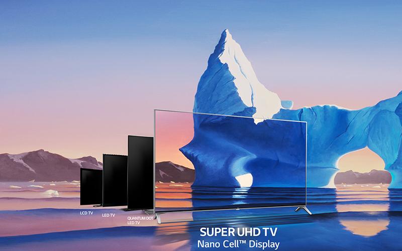 Smart tivi LG 55 inch 55SJ800T tích hợp công nghệ màn hình Nano Cell hiện đại