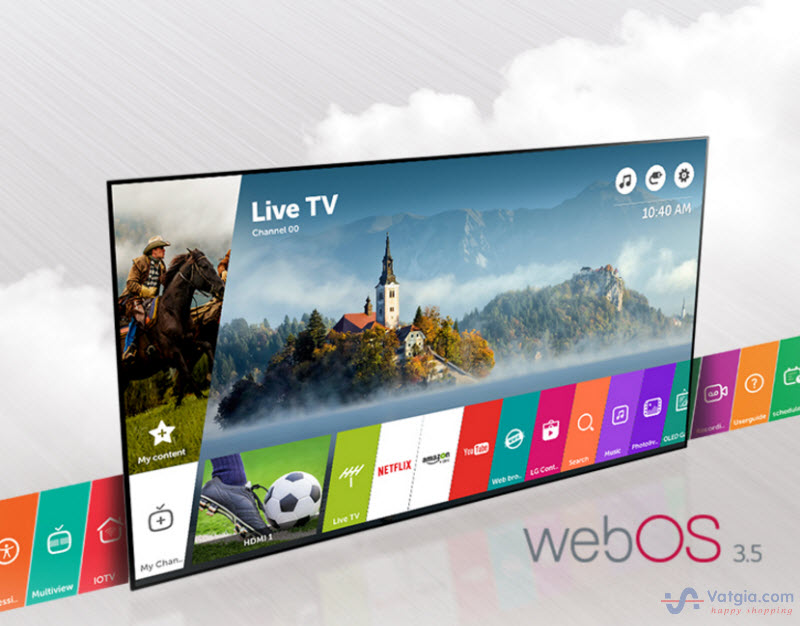 Ứng dụng webOS 3.5 hiện đại trên Tivi LG 55SJ800