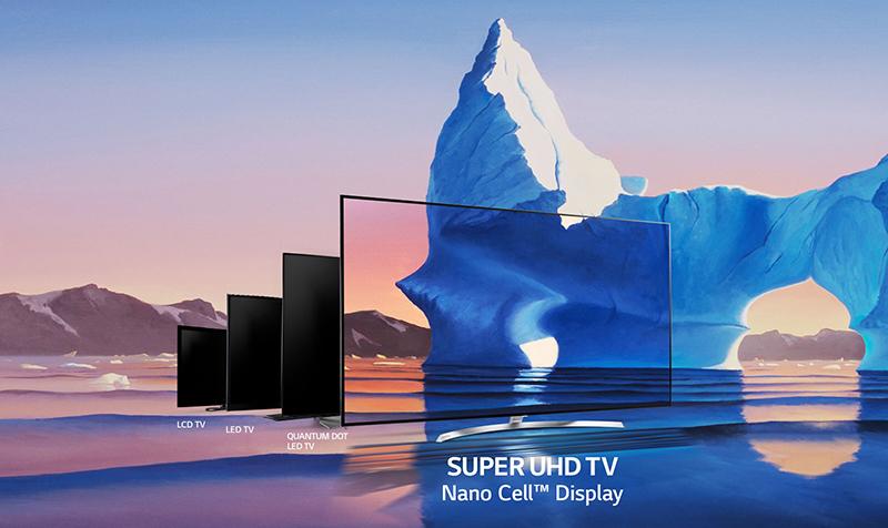 Tivi LG 55SJ850T tích hợp ứng dụng công nghệ Nano Cell hiện đại.