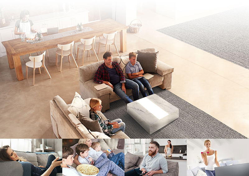 Thưởng thức chất lượng hình ảnh hiển thị với mọi góc nhìn hiển thị từ tivi LG 65SJ800T