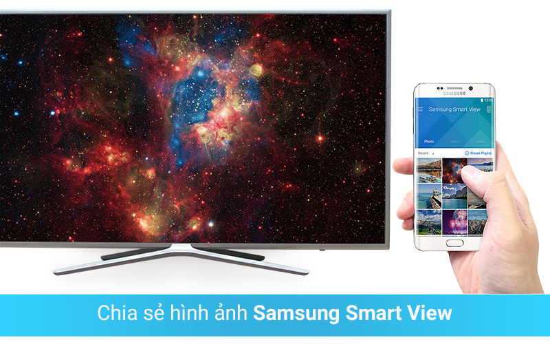 Tích hợp ứng dụng độc đáo Samsung Smart View trên Smart tivi Samsung 65 inch 4K 65MU9000