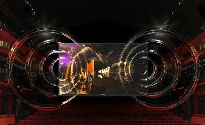 Smart tivi Sony 49X7500E - Âm thanh vang dội, cuốn hút