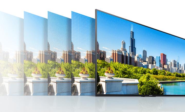 Tivi 49X7500E tạo chất lượng hình ảnh sắc nét, tự nhiên