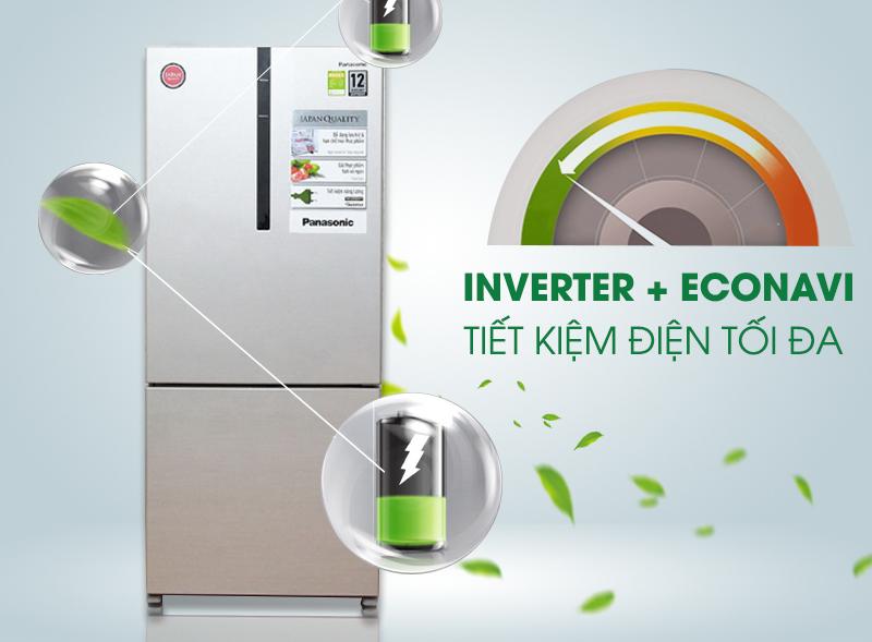 Khả năng tiết kiệm điện ấn tượng với Tủ lạnh Panasonic NR-BX418GKVN 363 lít