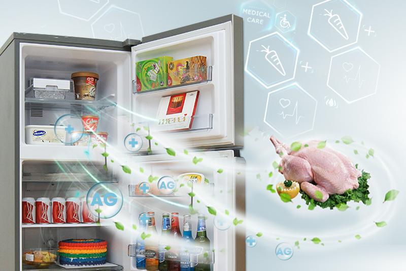 Không gian tủ lạnh trong sạch tuyệt đối của tủ lạnh Panasonic Inverter NR-BX418GKVN
