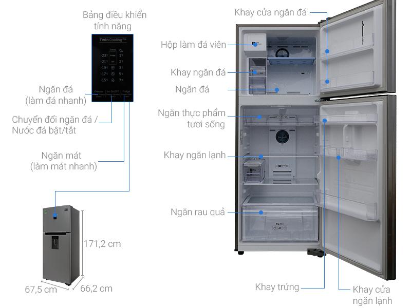 Thông số kỹ thuật của tủ lạnh Samsung RT35K5982S8/SV