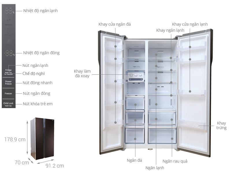 Thông số kỹ thuật của tủ lạnh Samsung RS552NRUA9M/SV