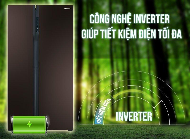 Tủ lạnh RS552NRUA9M/SV có khả năng tiết kiệm điện vượt trội nhờ công nghệ Inverter