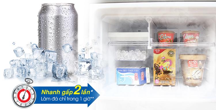 Khả năng làm đá trong thời gian ngắn với Tủ lạnh Sharp 180 lít SJ-198P-SSA