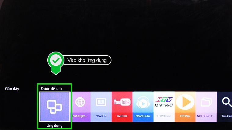 Sử dụng ngay ứng dụng hát karaoke trên tivi trong kho ứng dụng
