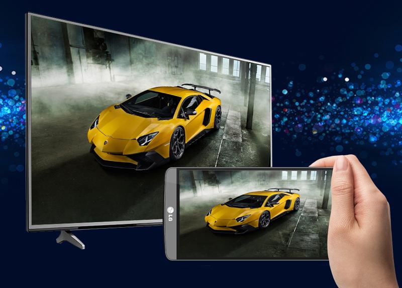 Khả năng chia sẻ hình ảnh từ điện thoại lên trên màn hình tivi LG 43UJ633T
