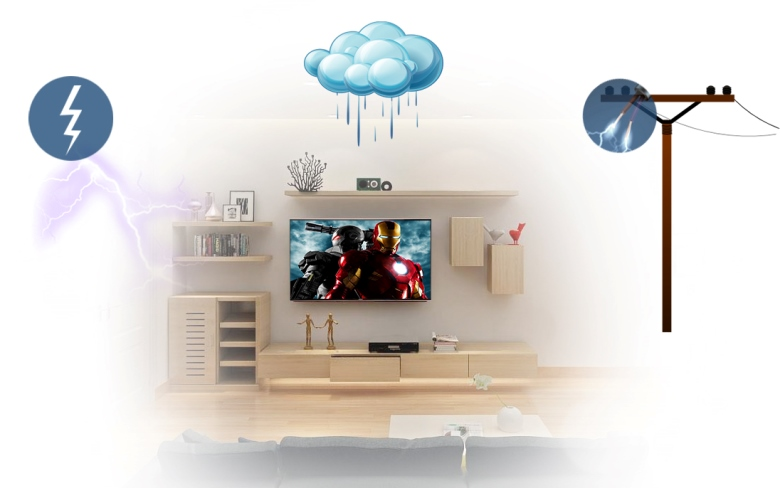 Tích hợp bộ công nghệ Triple Protector bảo vệ với tivi SamSung 32 inch