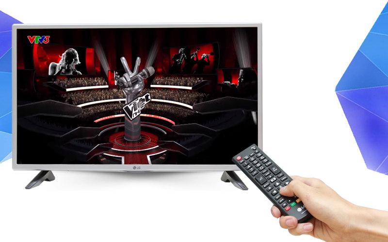Được trang bị đầu thu DVB-T2 ngay trên tivi LG 32 inch