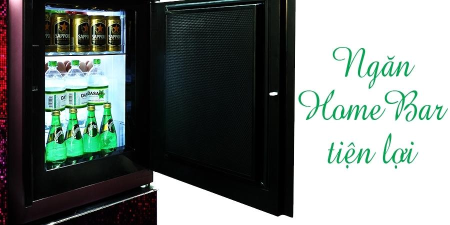 Ngăn HomeBar tiện lợi của tủ lạnh Sharp SJ-CX903