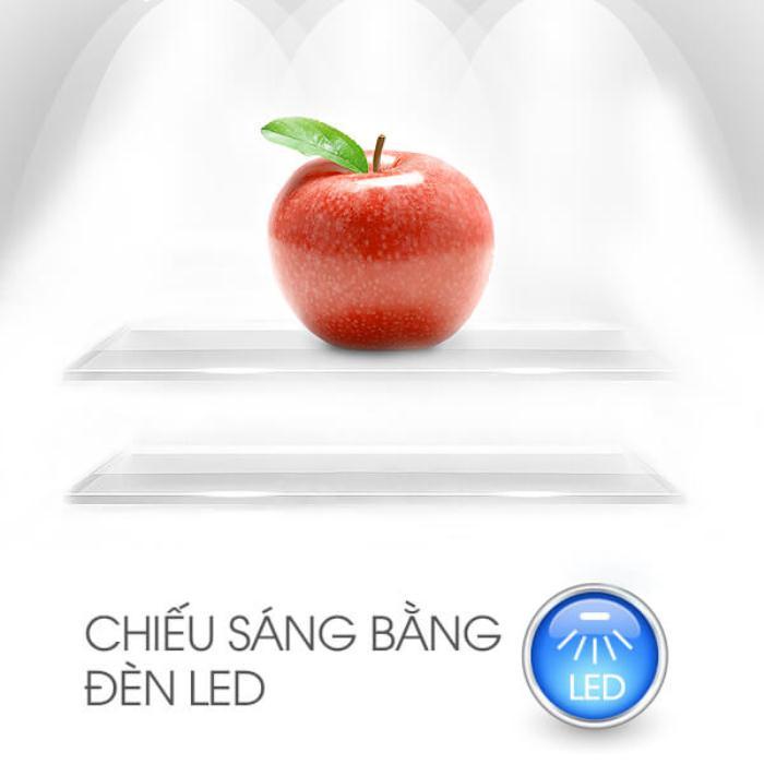 Đèn LED ánh sáng trắng với tủ lạnh Sharp SJ-S270D-SL