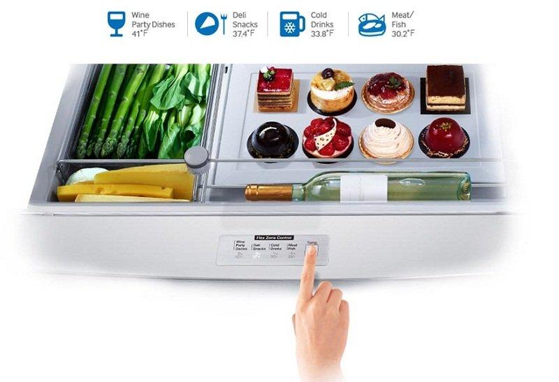 Điều chỉnh nhiệt độ linh hoạt, tiết kiệm điện năng với 4 chế độ của tủ lạnh RS58K6667SL/SV