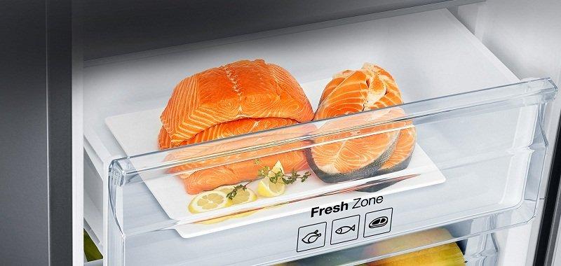Bảo quản thực phẩm tươi sống tốt nhất với ngăn chứa Fresh Zone của tủ lạnh RS58K6667SL/SV