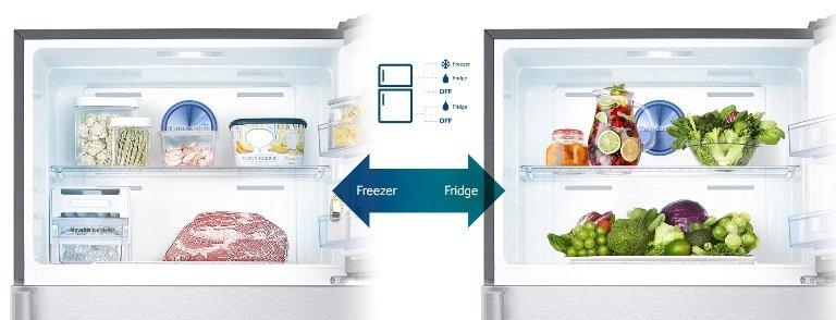 Linh hoạt điều chỉnh không gian ngăn đông với tủ lạnh Sharp SJ-16VF3-CMS