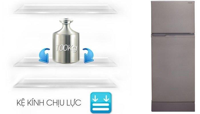Khay , kệ tủ được làm từ chất liệu nhựa cao cấp của tủ lạnh Sharp 180 lít SJ-18 VF4