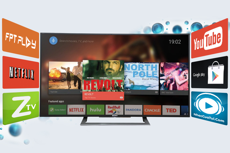 Giao diện Android thông minh với tivi Sony 50 inch 50S800D