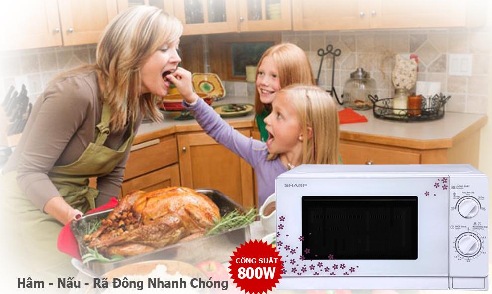 Trang bị nhiều chương trình nấu khác nhau