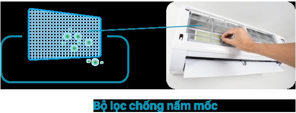 Điều hòa Toshiba H24PKCVG-V tích hợp bộ lọc chống mốc