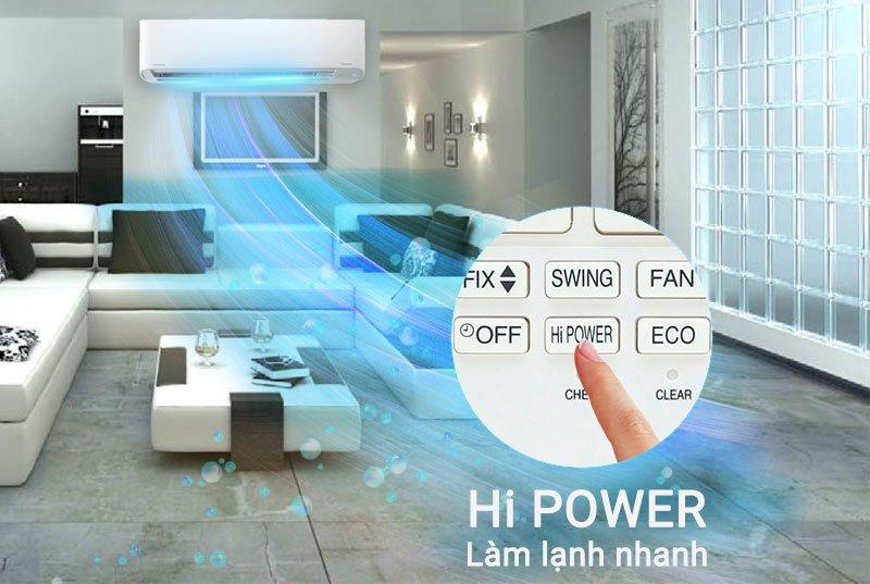 Công nghệ Hi Power làm lạnh nhanh chóng